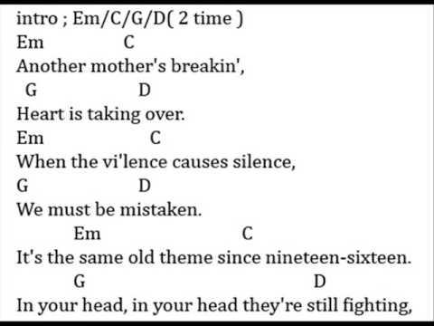 zombie chord lyrics