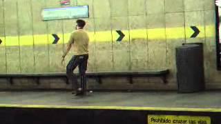 Guy Dancing on the Barcelona Metro