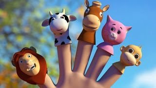 Animals Finger Family | Nursery Rhymes Song For Babies | 3D Rhyme Children's Video