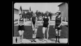 Charlie Chaplin Studios Swimming Pool - Rare Alternate Takes for How to Make Movies (1918)
