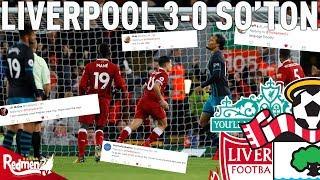 Liverpool v Southampton 3-0 | Twitter Reactions