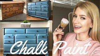 Dresser Makeover - How To Layer And Blend W/ Annie Sloan Chalk Paint DIY