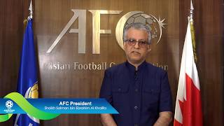 AFC President congratulates the final cast for #AsianCup2019