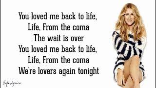 Céline Dion - Loved Me Back to Life (Lyrics) 🎵
