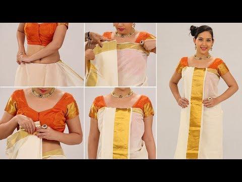 Xxx Mp4 Kerala Style Saree How To Wear Kerala Style Saree Step By Step Perfect Saree Draping To Look Slim 3gp Sex