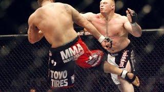 Brock Lesnar vs Frank Mir FULL FIGHT - UFC 100