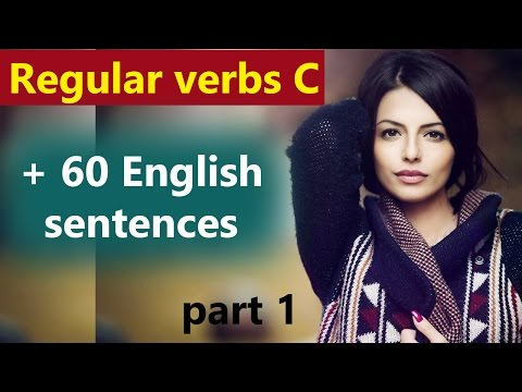 English grammar in Hindi, Regular verbs and English sentences with c through Hindi, Urdu