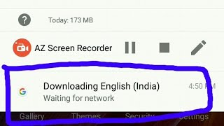 How to clear   downloading English India waiting for wifi  