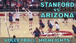 Arizona vs Stanford Women's Volleyball HIGHLIGHTS (9/29/17)