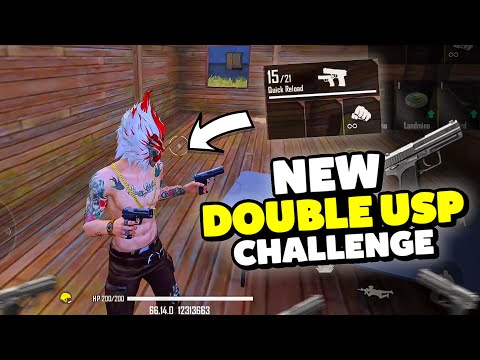 New Double USP Gun Only Challenge Free Fire Desi Gamers