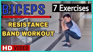 #4: 7 Biceps Workout With Resistance Band By Nikhil Agrawal