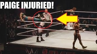 PAIGE INJURED AT WWE LIVE EVENT! THE MOVE THAT ENDED HER CAREER! (Video)