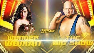 Wonder Woman VS Big Show -  1-vs-1 Steel Cage Match
