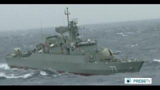 Iran Navy fighting pirates in southern waters جنگ ناوگان ايران با دزدان دريايي جنوب