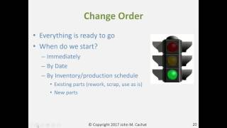 Engineering Change Management: The Process