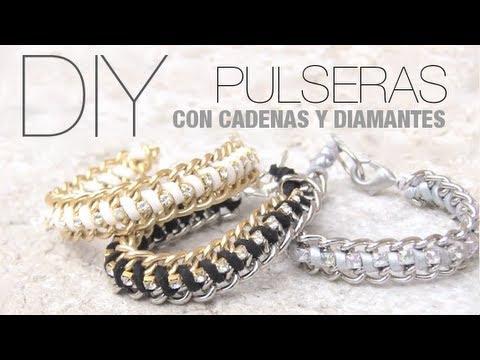 DIY Pulseras fáciles con cadenas