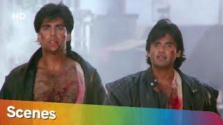 Akshay Kumar & Suneil Shetty Action Scenes from Waqt Humara Hai   Best Action Movies