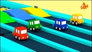 Cartoon Cars - Jumping Cars BLOCKS RACE! - Compilation Cartoons for Kids - Children