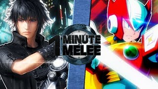 Noctis vs Zero (Final Fantasy vs Mega Man) - One Minute Melee S6 EP13