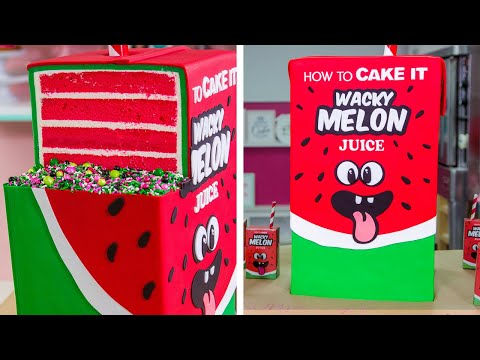 GIANT Juice Box Cake with JUICE INSIDE How To Cake It