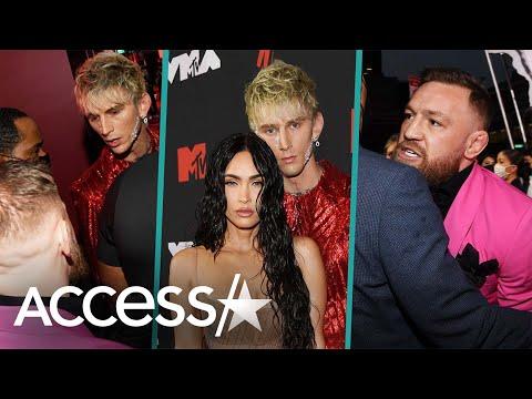Megan Fox Tries To Stop Machine Gun Kelly & Conor McGregor's Fight At MTV VMAs
