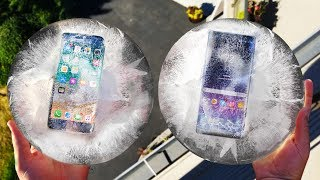 iPhone 8 vs Note 8 Freeze and Drop Test! Which Will Survive??