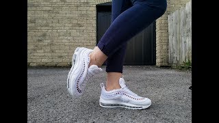She is unboxing Nike Airmax 97 SI (shoeplay and shoe swap)