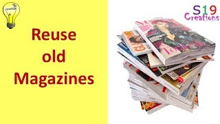 how to reuse  old magazines or newspapers | cool idea you should know | easy diy craft idea