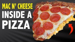 MAC N' CHEESE INSIDE A PIZZA - VERSUS