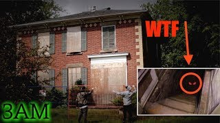 OUIJA // SNEAKING INTO A DEMONIC HAUNTED HOUSE (WE FOUND THIS!!) 3AM CHALLENGE