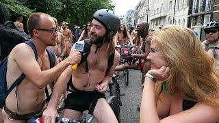 London Naked Bike Ride (NSFW)