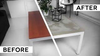 DIY MINIMAL CONCRETE TABLE TOP | IKEA hack