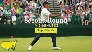 Tiger Woods' Second Round in Three Minutes