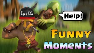 Funny Moments, Glitches, Fails & Trolls Compilation COC #6 | CLASh OF CLANS Come Back Builder