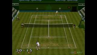 Break Point Tennis - Gameplay PSX (PS One) HD 720P (Playstation classics)