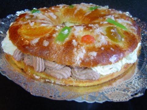 TORTEL O ROSCÓN DE REYES CASERO RELLENO DE NATA Y TRUFA receta de panadería