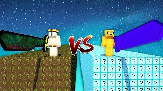 DESAFÍO DE LOS LUCKY BLOCKS NOOBS VS LUCKY BLOCKS PROS 😂❓
