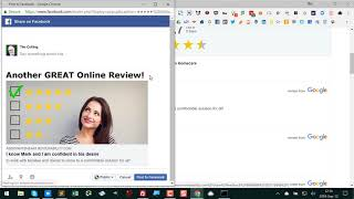 Sharing Google reviews to Facebook pages