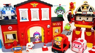 Fire!! New Pororo fire station open! Move to fire scene with Robocar Poli! - DuDuPopTOY