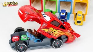 Download Learning Special Disney Pixar Cars Lightning McQueen Carry Case color Sounds for kids car toy 3Gp Mp4