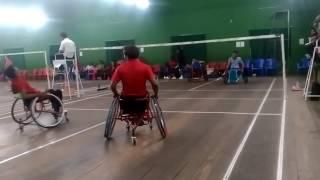 Wheelchair badminton final match