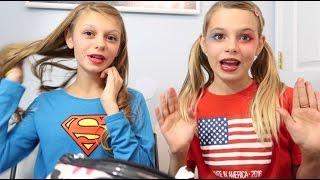 SUPER HERO MAKEUP TUTORIAL!! SUPER GIRL AND HARLEY QUINN