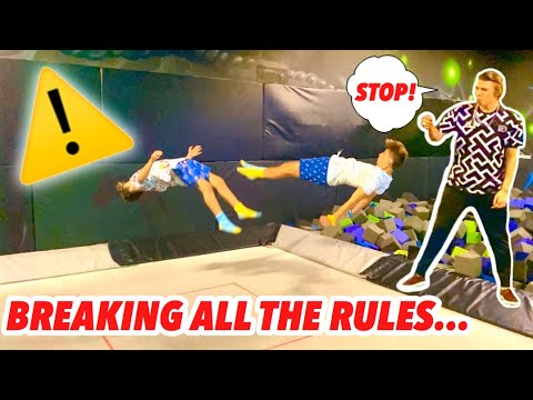 BREAKING ALL THE RULES AT BEST TRAMPOLINE PARK