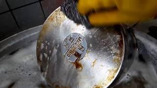 سفید کردن ظروف آشپزخانه و دیگها safed kardani zarfhai ashpazkhana
