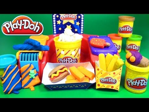 Play Doh Poppin Movie Snacks Popcorn Play Doh Movie Treats Popsicle Hot Dog Fries Ice Cream