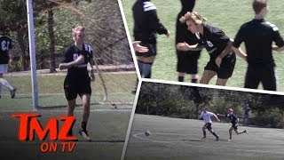 Justin Bieber Plays in Soccer Match With God | TMZ TV