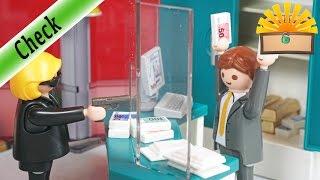 ERSTE GANOVIN! BANK mit (fast) echtem Geldautomat! Playmobil 5177 Film deutsch