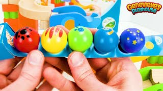 Toy Learning Videos for Toddlers Learn Colors Teach Animal Names Wooden Marble Maze with Genevieve!