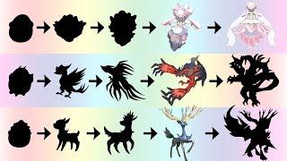 Diancie Yveltal Xerneas Evolution & Egg | Pokemon Gen 8 Fanart