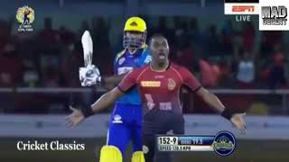 DJ Bravo vs keroen pollard fight in CPL 2017